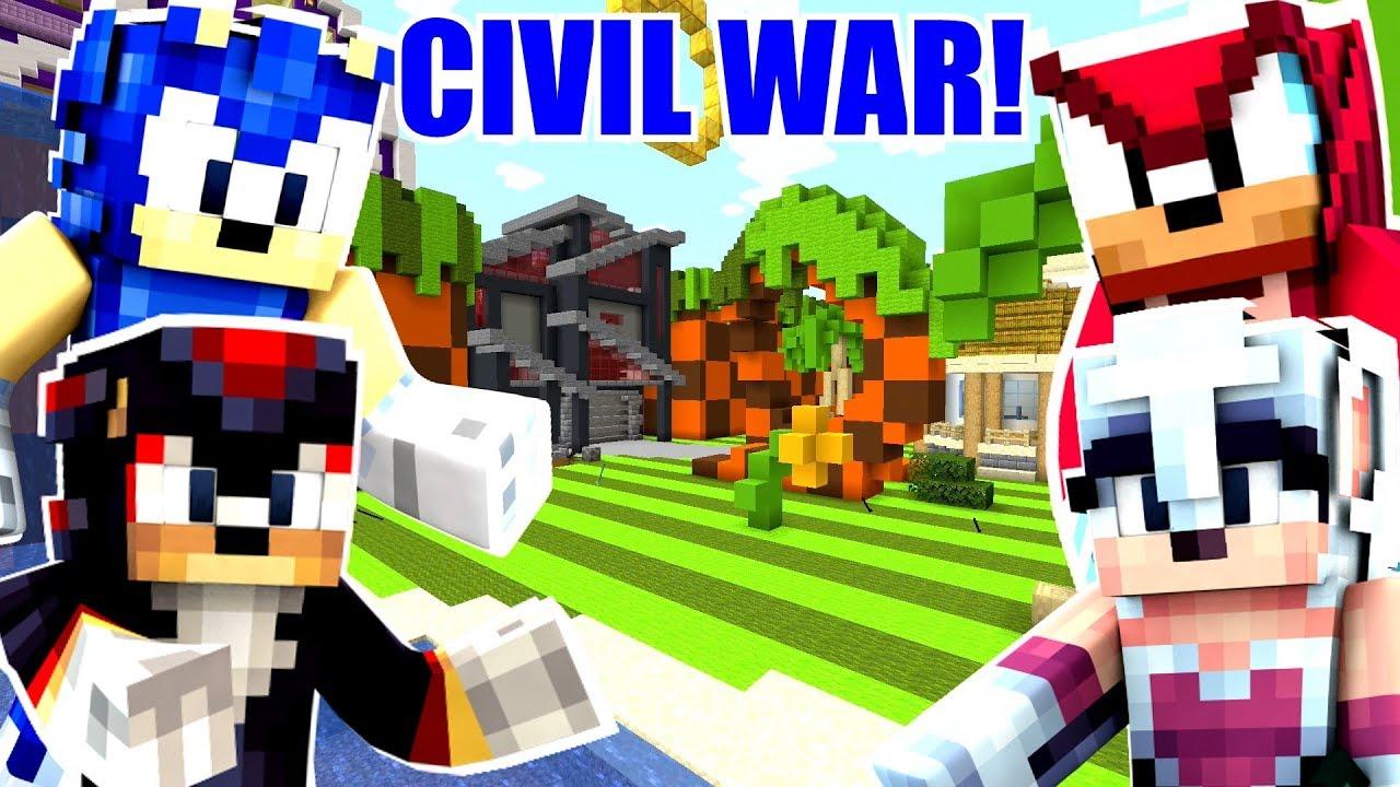 Minecraft Sonic The Hedgehog - Sonic Starts A Civil War! [98]