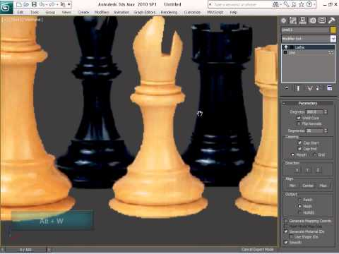 Model and Texture a Complete Chess Set in 3ds Max - Day 1
