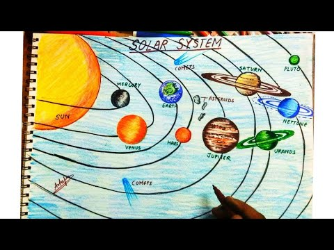 how to draw solar system