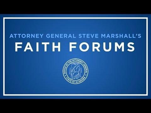 Attorney General Steve Marshall's Faith Forums