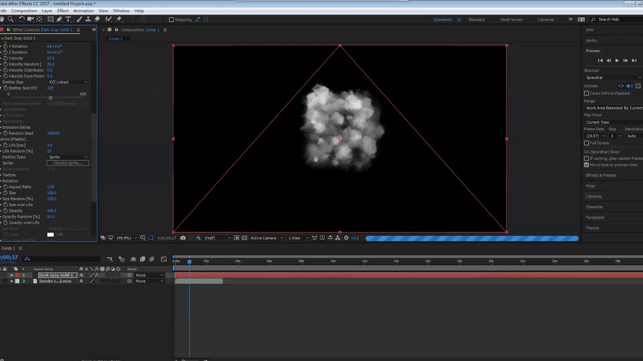 After Effects Red Giant Trapcode Particular Smoke
