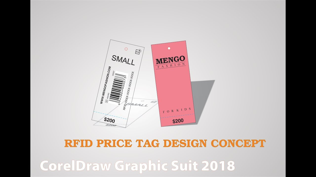 RFID Price Tag Design Concepts by CorelDraw 2018
