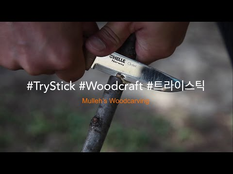 트라이 스틱 만들기 Try Stick Making (부쉬크래프트, bushcraft, wood carving, sloyd)