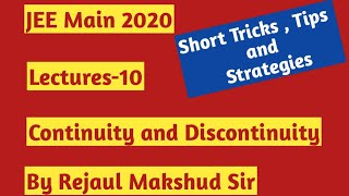 JEE Main  2020 || Probable Questions on Continuity & Discontinuity -10 || IIT-JEE MATHS || R M Sir
