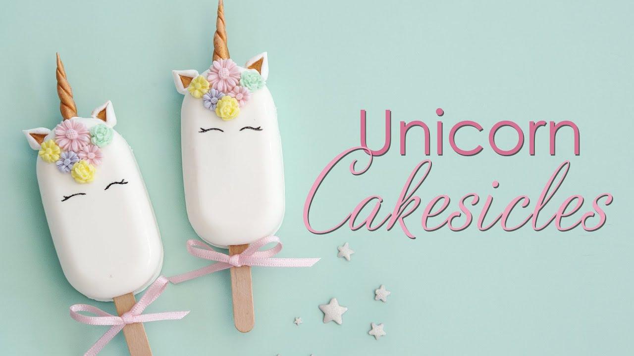 Unicorn Cakesicle / Cake Popsicle Tutorial