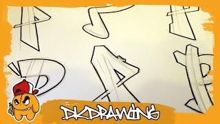 Graffiti Alphabets Letter P - Buchstabe P - Letra P