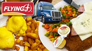 BREAKFAST & LUNCH at a CANADIAN TRUCK STOP ☕️????????️ Flying J Travel Centre