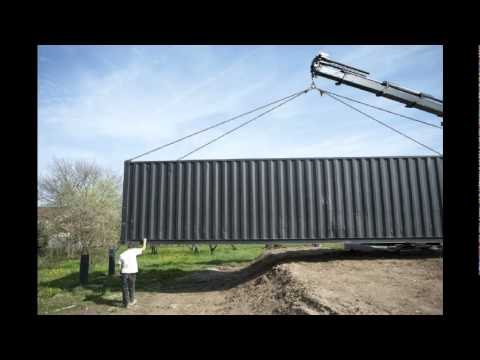 Maison container maritime stockage youtube for Maison container maritime