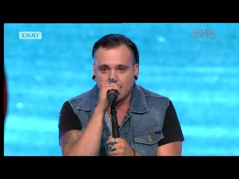 The Voice of Greece 4 - Blind Audition - THE NUMBER OF THE BEAST - Ross Hill