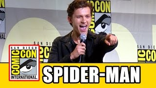 SPIDER-MAN HOMECOMING Comic Con - Tom Holland, Zendaya, Laura Harrier, Tony Revolori, Jon Watts