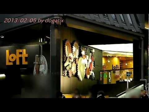 Japan Trip 2013 Tokyo Shibuya Night view SEIBU LoFt COACH 18