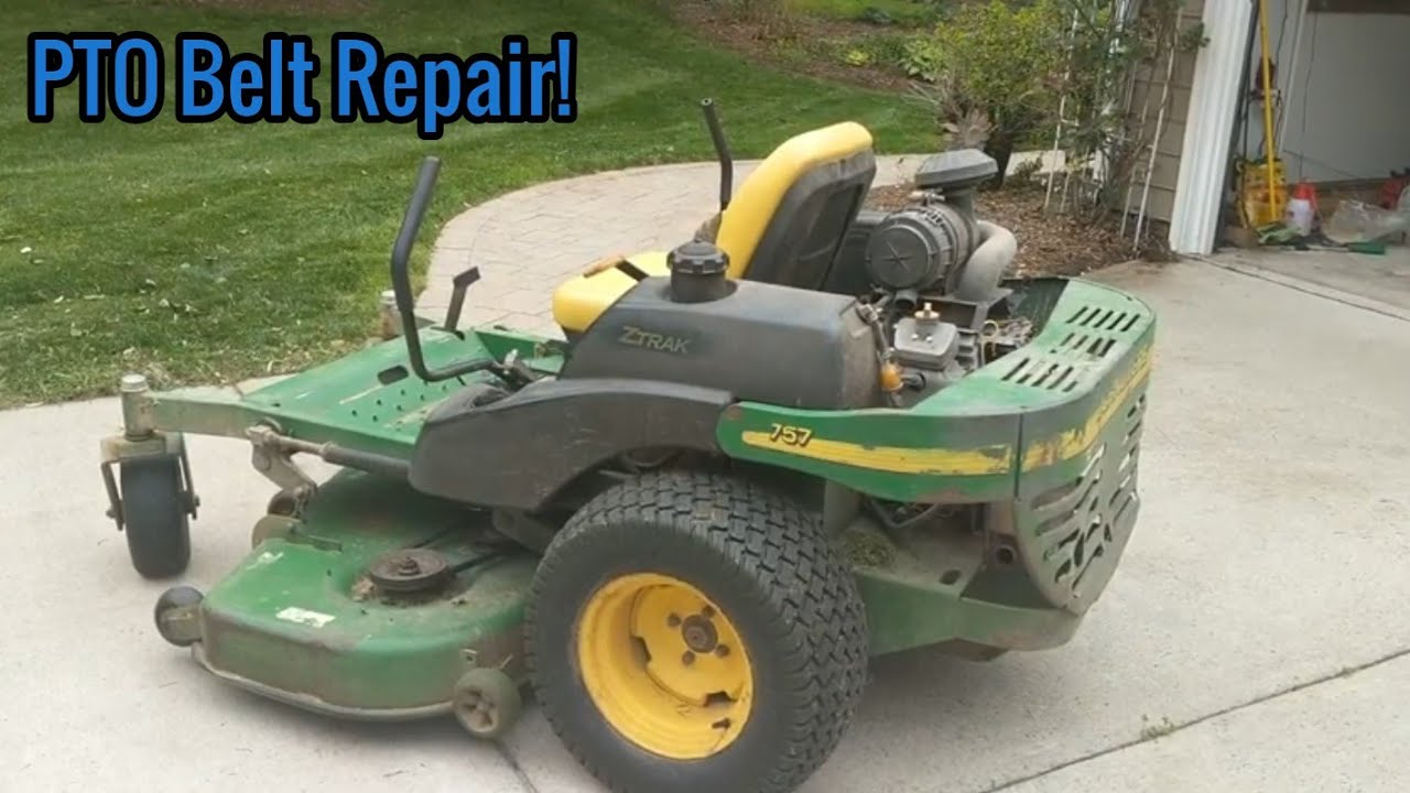 how to change pto belt on john deere 757 7 iron deck with product link [ 1280 x 720 Pixel ]