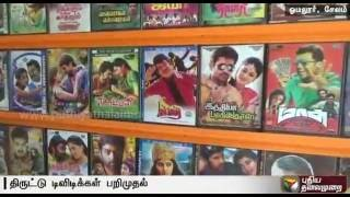 Four arrested for selling pirated DVDs new Tamil movies in Salem