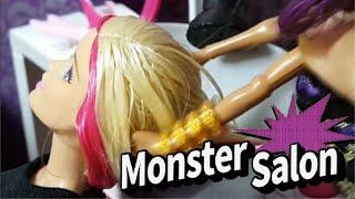 몬스터하이 미용실 Barbie & Monster High Wolf at Sparkle Style Salon Hair Shop Playset 핑크팝 TV