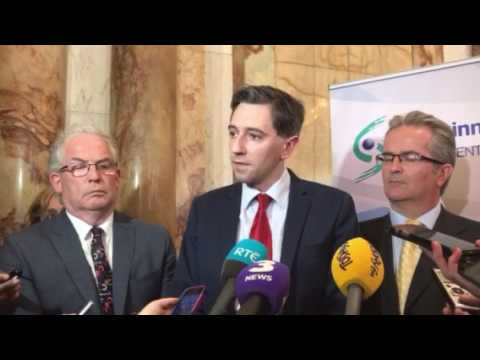 Simon Harris at launch of Cancer strategy