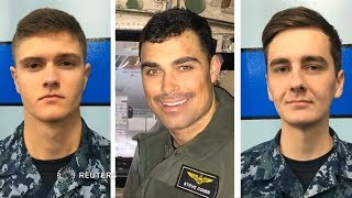 Three missing sailors identified