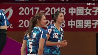 2017-2018 China Volleyball League 21st Round YUAN Xinyue Highlights