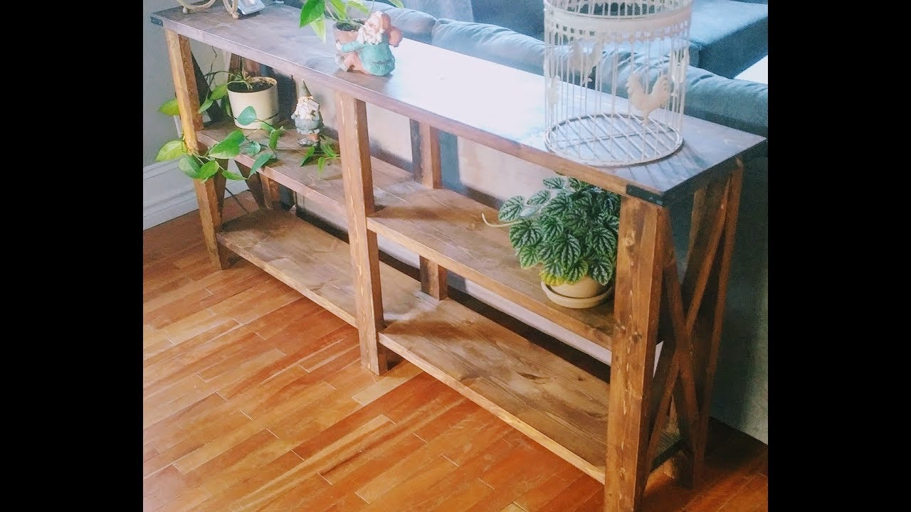 Diy sofa table youtube diy sofa table geotapseo Gallery