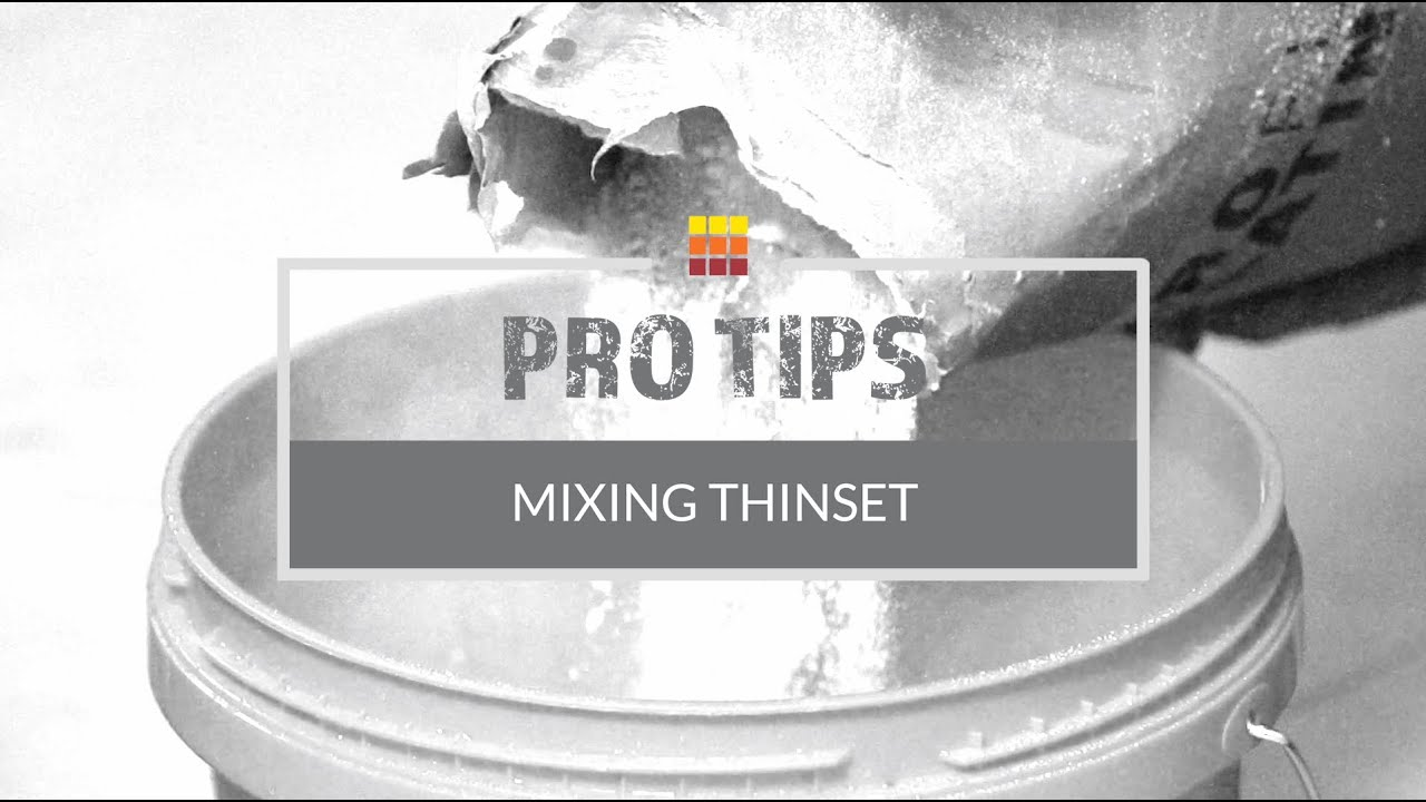 How to Mix Thinset Mortar - The Tile Shop