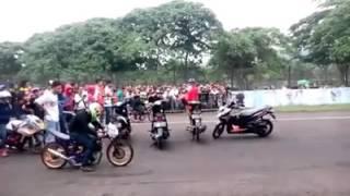 Abidin Jabrik Motor vs Jali Jali SMS Ahon start view   Edisi Kedua Ngebal