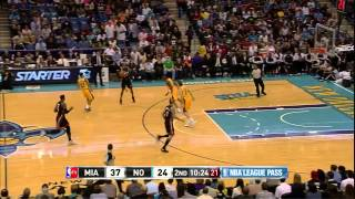 LeBron James 36 points (6 consecutive 3 pointers) vs New Orleans Hornets full highlights 03/29/13 HD