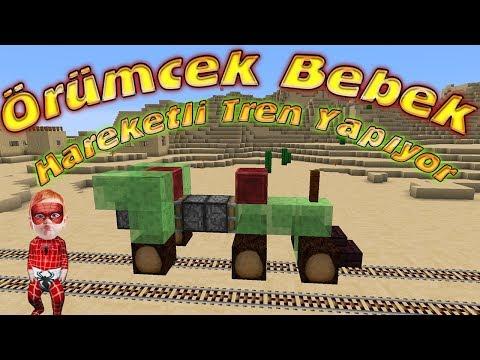 Örümcek Bebek Minecraft'ta Kendi Giden Tren Yapıyor Örümcek Bebeğin Minecraft İcatları