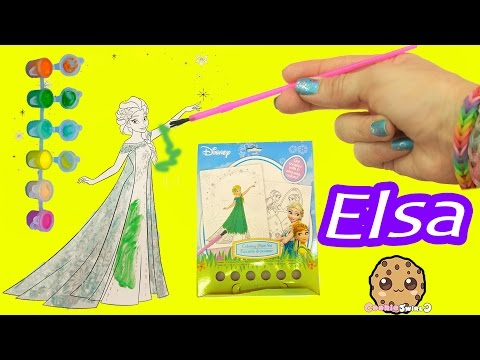 Disney Frozen Fever Coloring Paint Set - Painting Queen Elsa Craft Fun Video Cookieswirlc