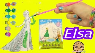 Disney Frozen Fever Coloring Paint Set - Painting Queen Elsa Craft Fun Video Cookieswirlc