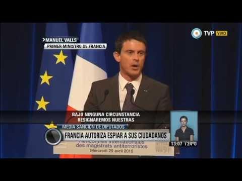 V7inter - Francia autoriza espiar a sus ciudadanos