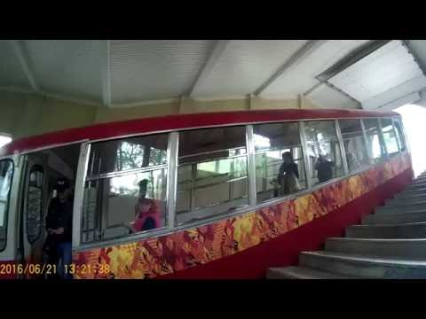 Real videos from modern Russia. Vladivostok Funicular train. Ultimate hill climber