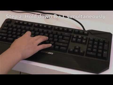 Tesoro Factory Reset of keyboards - YouTube
