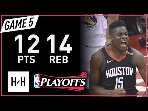 Clint Capela Full Game 5 Highlights Warriors vs Rockets 2018 NBA Playoffs WCF - 12 Pts, 14 Reb!