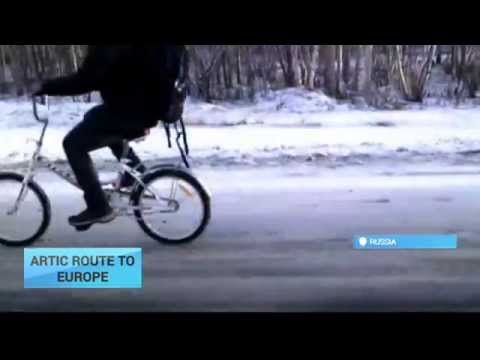 Arctic Route to Europe: Middle East refugees cycle to Norway