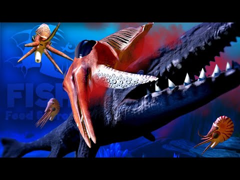 Feed and Grow Fish - GIANT Cuttlefish Battles The MOSA! NEW Chambered Nautilus! - Update Gameplay