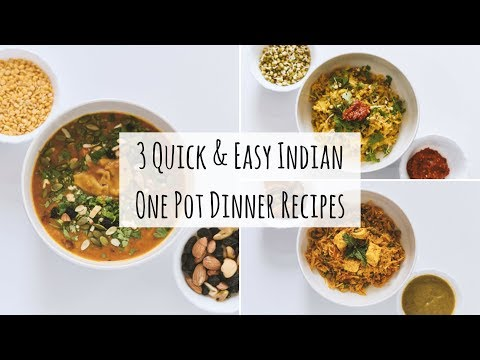 3 Easy One Pot Indian Dinner Recipes| Indian Veg Dinner Recipes|3 Indian Dinner For Weight Loss