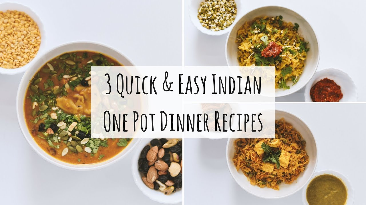 3 Easy One Pot Indian Dinner Recipes| Indian Veg Dinner Recipes|3 Indian Dinner For Weight Loss
