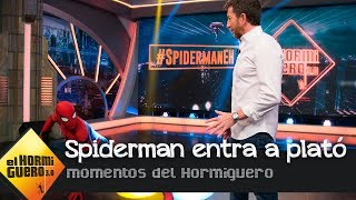 La increíble entrada de Tom Holland como Spiderman a plató  - El Hormiguero 3.0