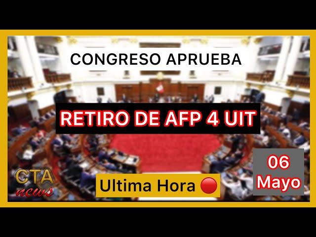 AFP Retiro de fondos: Congreso APROBO hasta S/ 17,600 (4 UIT) 🔴 ¿Qué establece la norma ahora?