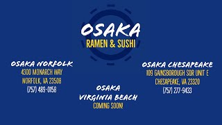 Osaka Ramen & Sushi ~ ODU ~ Monarch Way ~ Real Estate Foundation