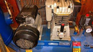 бюджетная пневмосистема из двух компрессоров для гаража с большим расходом воздуха