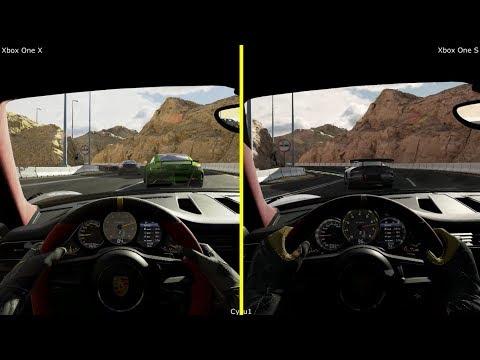 Forza Motorsport 7 Xbox One X vs Xbox One S Graphics Comparison - Porsche 911 GT2 RS 18 at Dubai