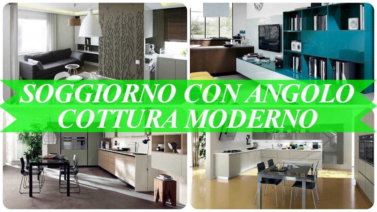 Angolo Cottura Soggiorno : Idee per soggiorno con angolo cottura moderno youtube