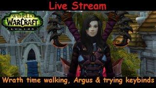 ulduar time walking, argus  trying keybin  - fury warrior - world of warcraft - pve gameplay