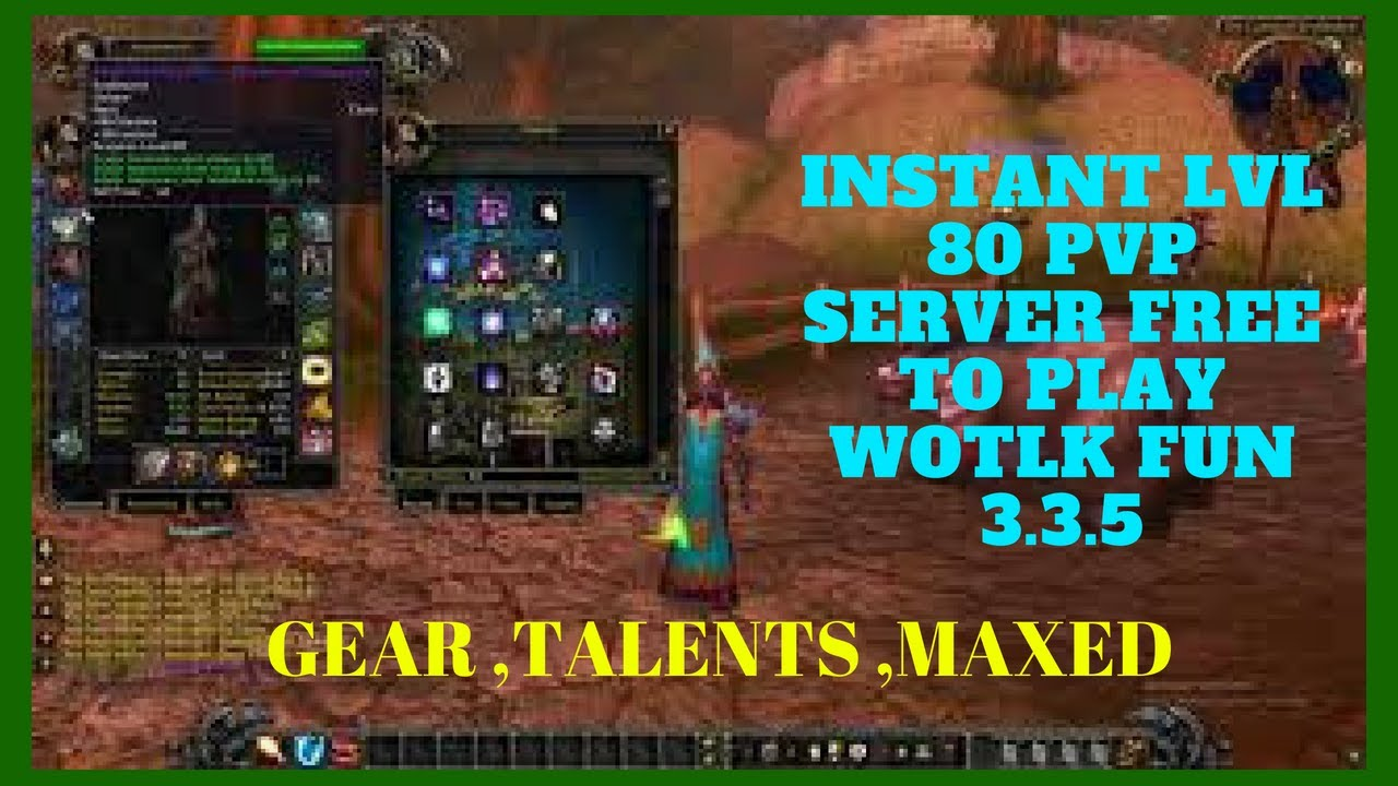 Instant LVL 80 WoTLK WoW Warmane Private Server |FREE to PLAY 2018