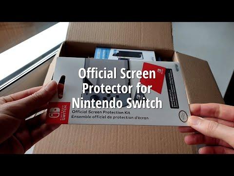Nintendo Switch Official Screen Protection Kit Assembling (Наклейка защитной пленки Nintendo Switch)