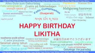 Likitha   Languages Idiomas - Happy Birthday