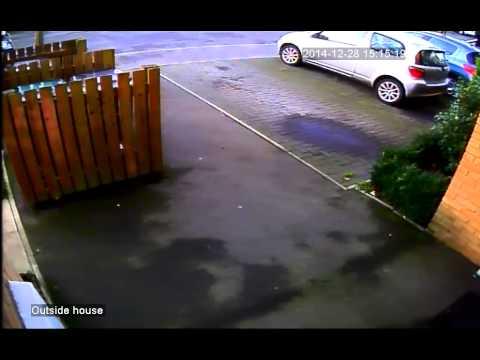 CCTV Fotage of A pizza man