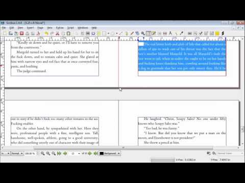 How to Typeset a Novel in Scribus Part 10: Other Typesetting Ideas
