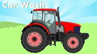 ☼ Traktor and Car Wash |  Bazylland  ● Red Tractor | Bajka