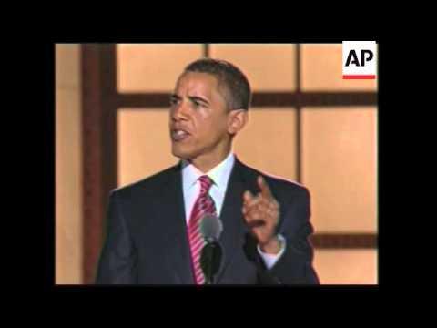 Denver: Barack Obama Addresses Democratic National Convention